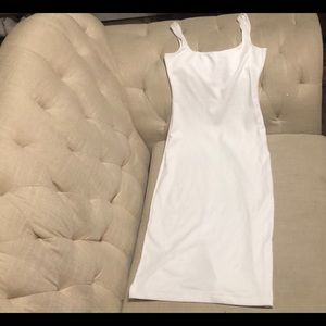 American Apparel form fitting white dress
